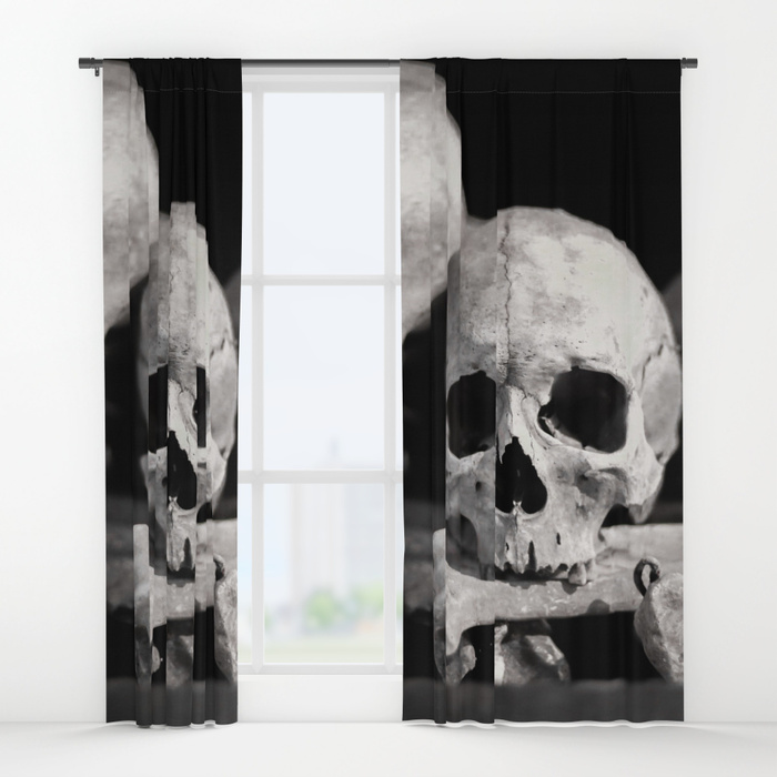 Society6 Laurais Arts bones and skulls curtains